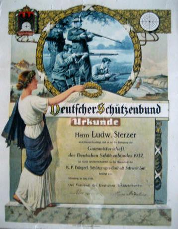 Schützenurkunde 1932