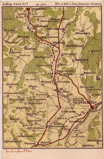 Karte Würzburg Und Umgebung.Schweinfurt Historische Landkarten Schweinfurtführer Ein Führer
