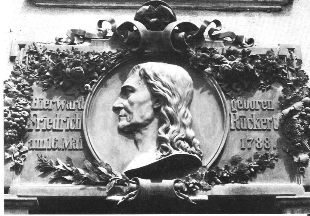 Altes Foto von Rückert Gedenktafel am Rückerthaus - Danke Michael Kupfer