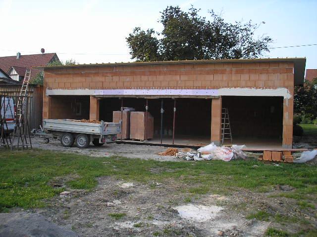 Rohbau Garage