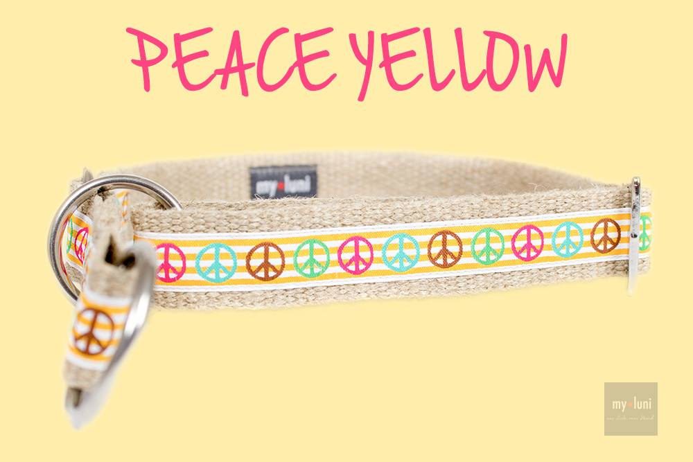 Halsband Modell PEACE yellow
