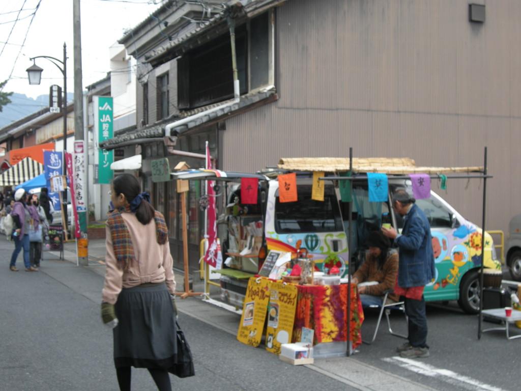 隠街道市の様子 2010年