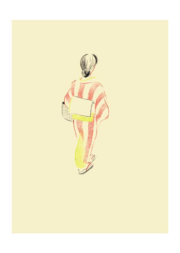 第3回東京装画賞 入選作品表4/課題図書 「あ・うん」/向田邦子