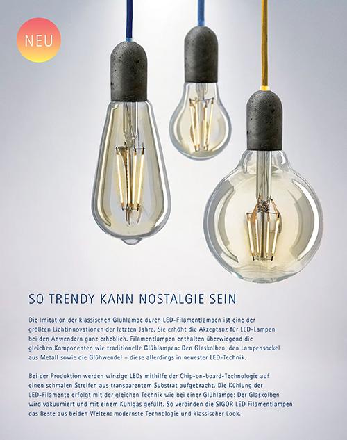 LED Lampen von Sigor \