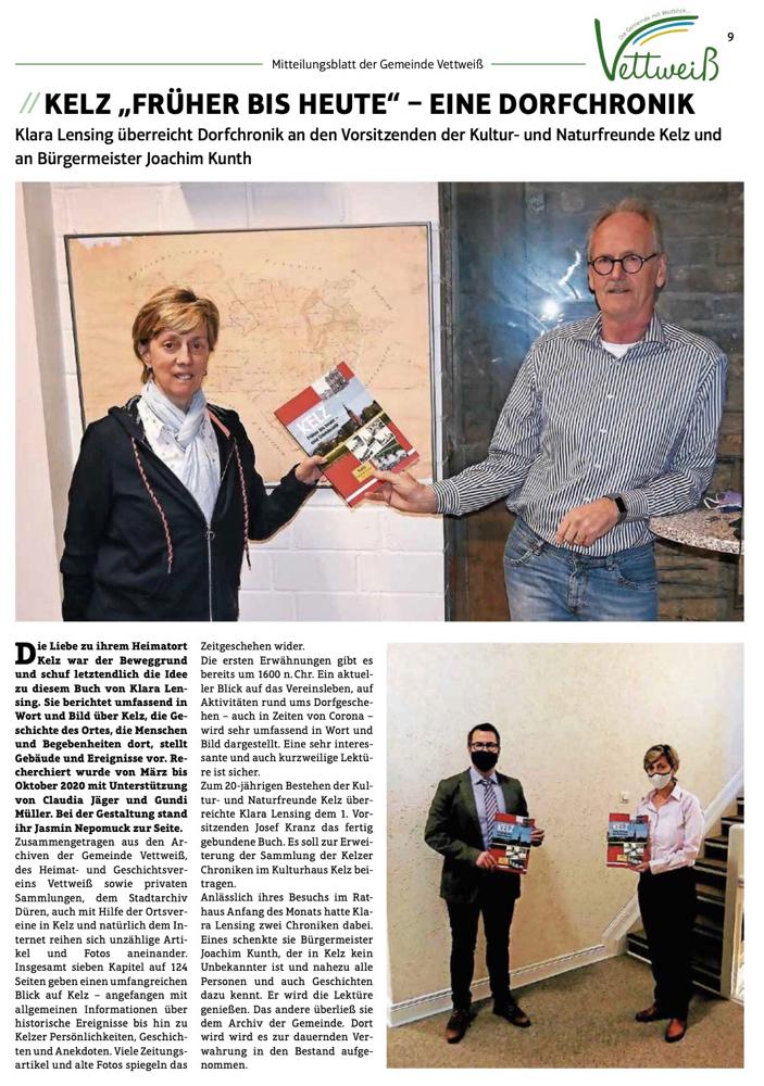 Artikel Mitteilungsblatt vom 13.12.2020