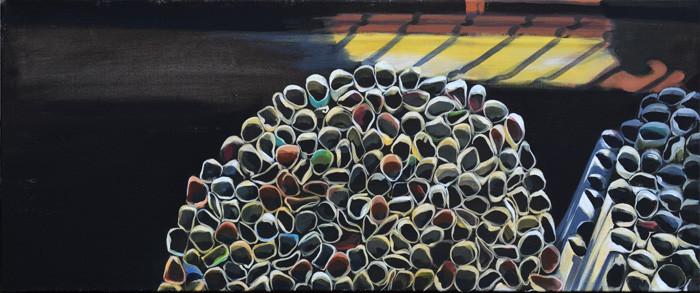Acryl auf LW, 40 x 150