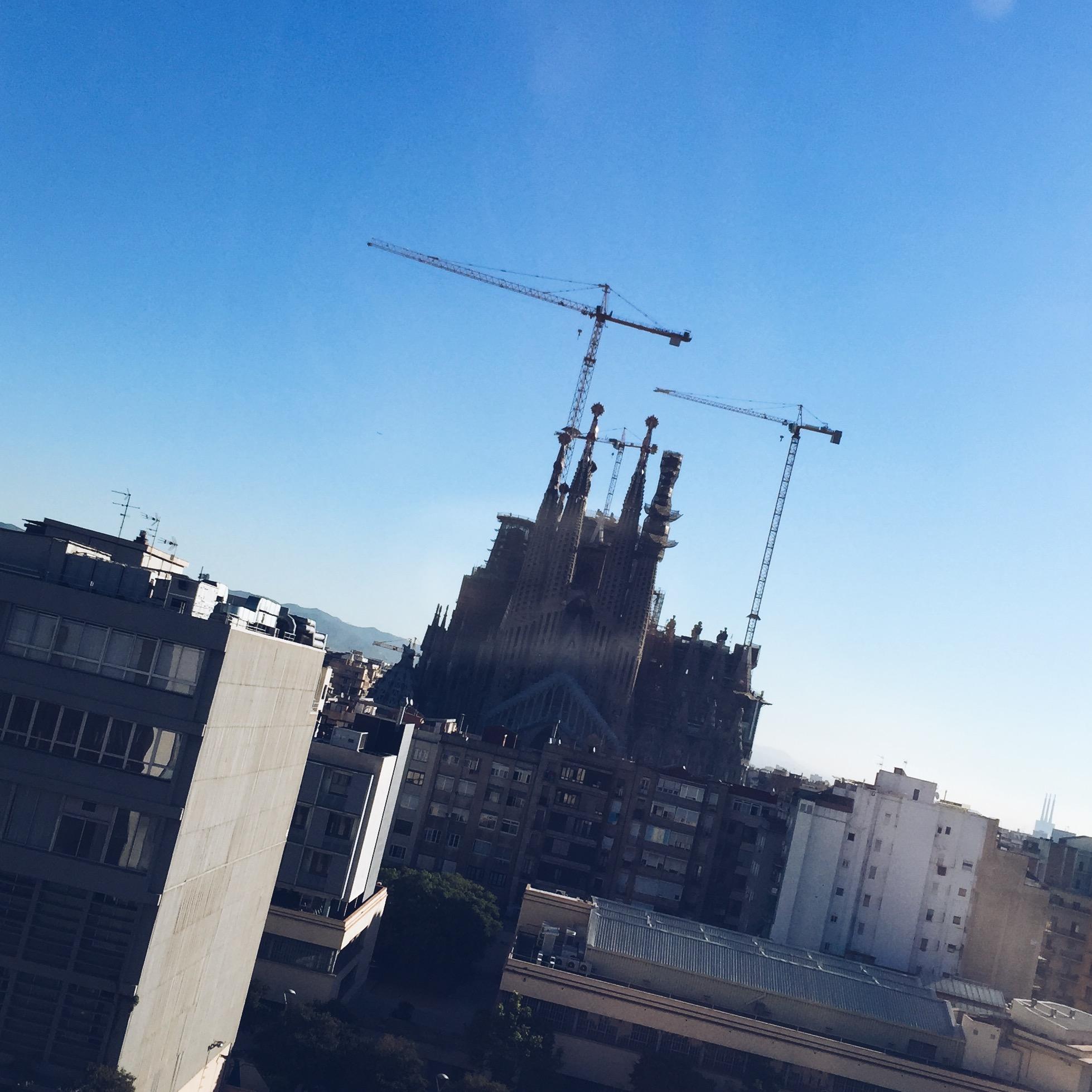 Het uitzicht vanaf kantoor,  Sagrada Familia!