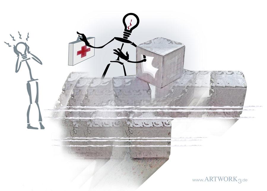 Illustration 4 zum Thema Programmierung - ARTWORK3, Heidemarie Franz