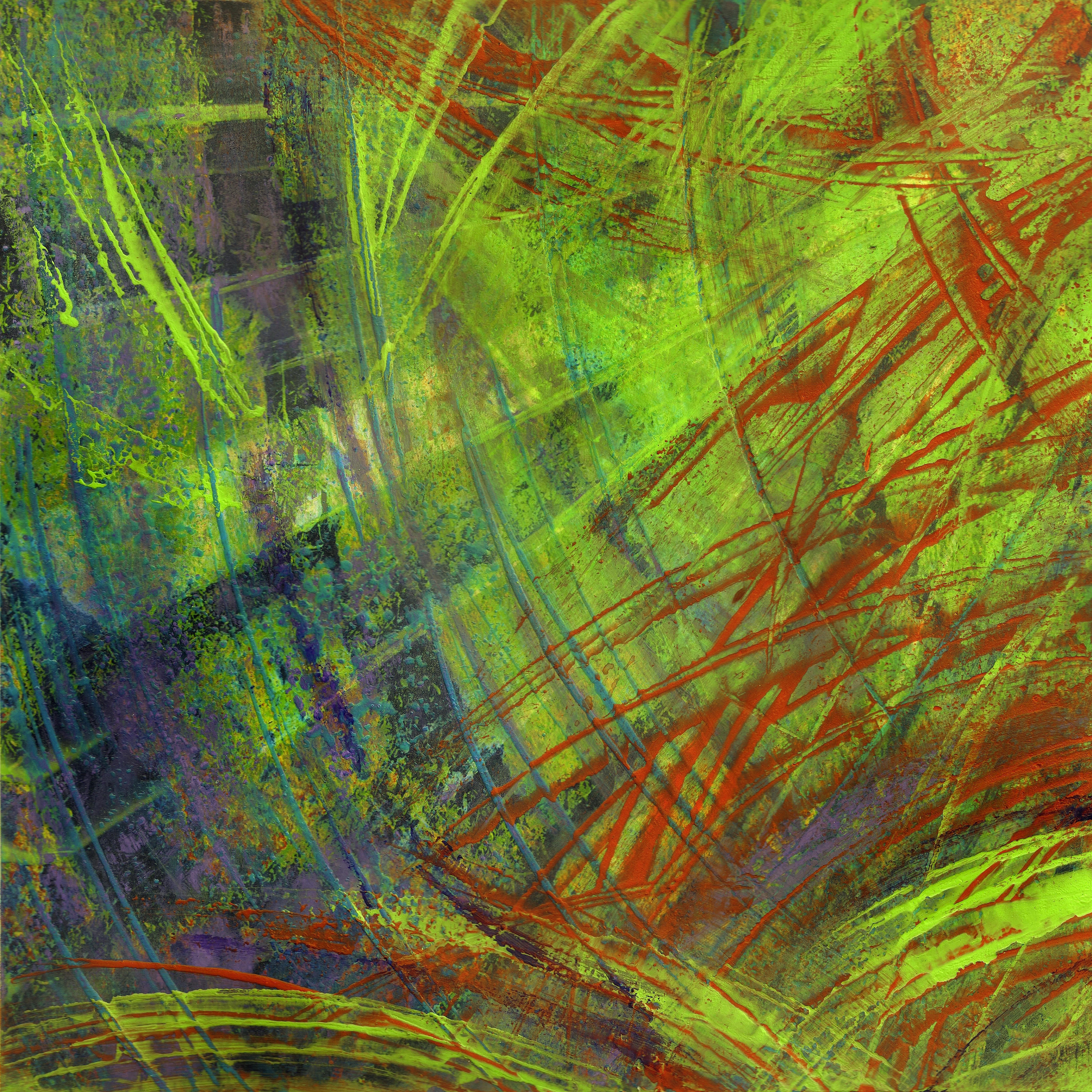 Tecnica mista: acrilico, olio su cartoncino - cm. 29x29