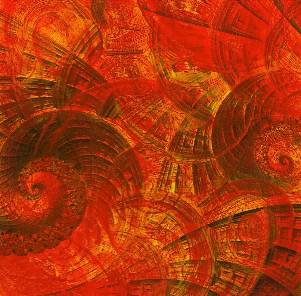 Tecnica mista: digitale, olio su cartoncino - cm. 30x30