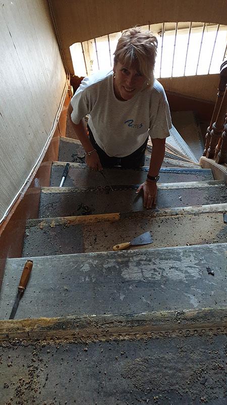 Retrouver le bois des escaliers