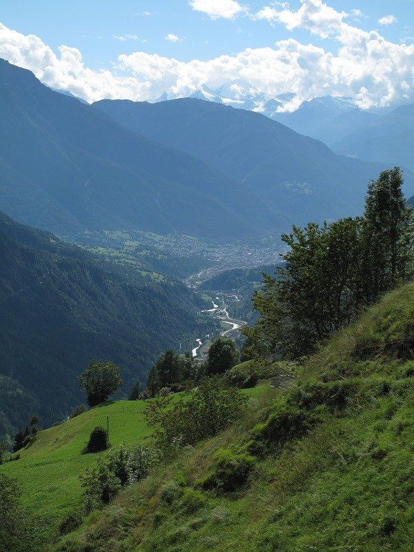 der Blick ins Tal Richtung Brig