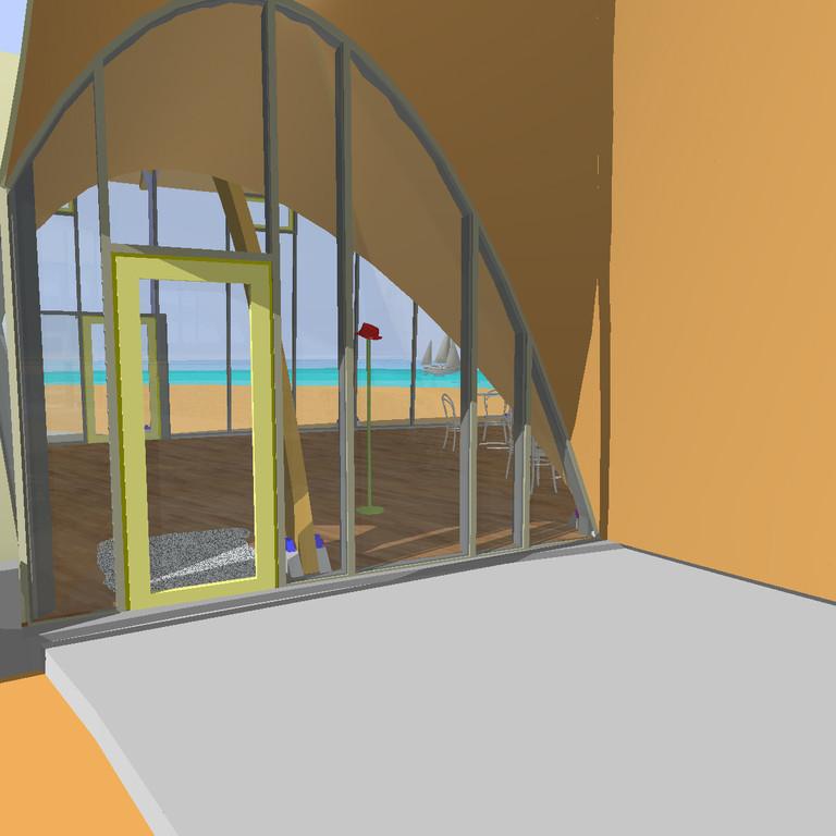 Zugang zum Saal