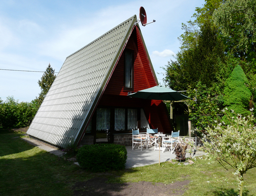 Ferienhaus Perlin Dümmer See Hausansicht Terrasse