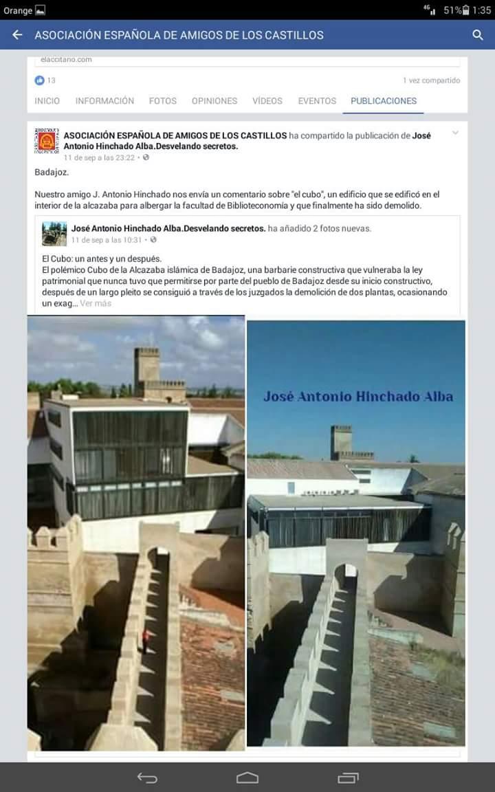 La Asociación española de amigos de los castillos me publicó este artículo.