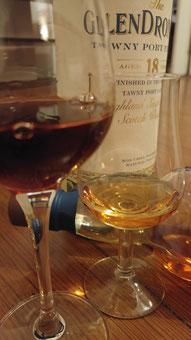 Whiskynosinggläser und GlenDronach 18 Jahre Tawny Port
