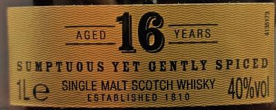 Jura 16 Jahre - Das Etikett