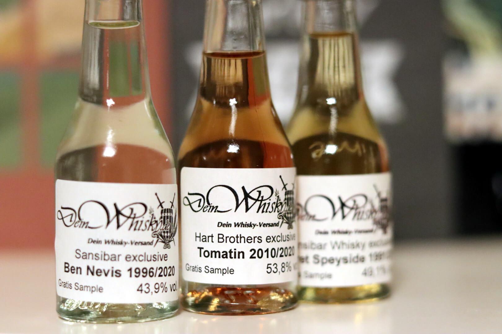 Whiskybesprechung #195: 3x deinwhisky.de (Ben Nevis, Secret Speyside, Tomatin)
