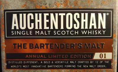 Auchentoshan The Bartender's Malt Etikett