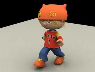 Spiro, character design animé pour CDRom CG06