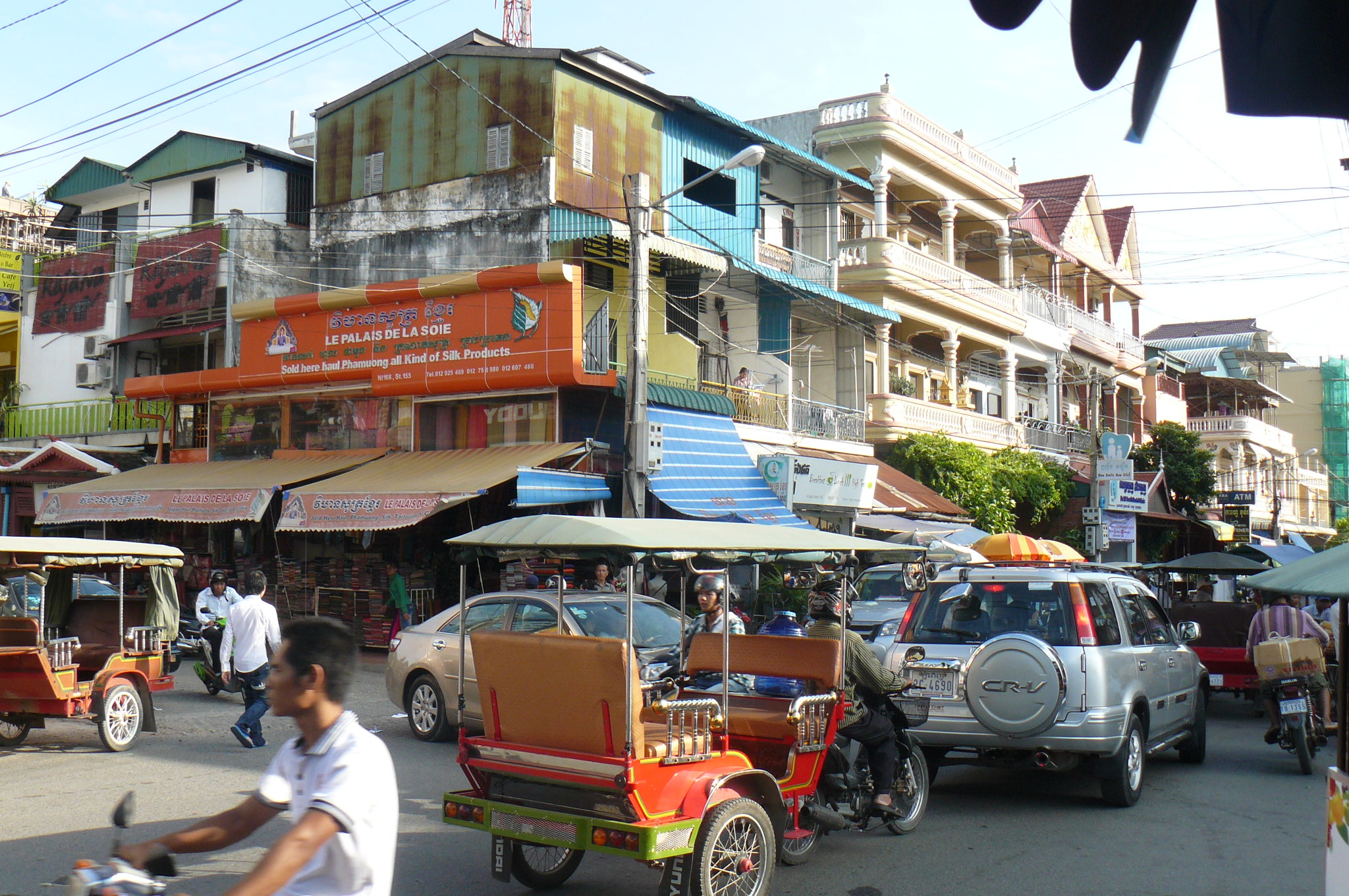 Kambodscha, Phnom Penh - Lena verfährt sich mit den Tuc Tuc