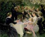 HIP HIP HOURRA oeuvre de 1888, on y retrouve les artistes de SKANGEN