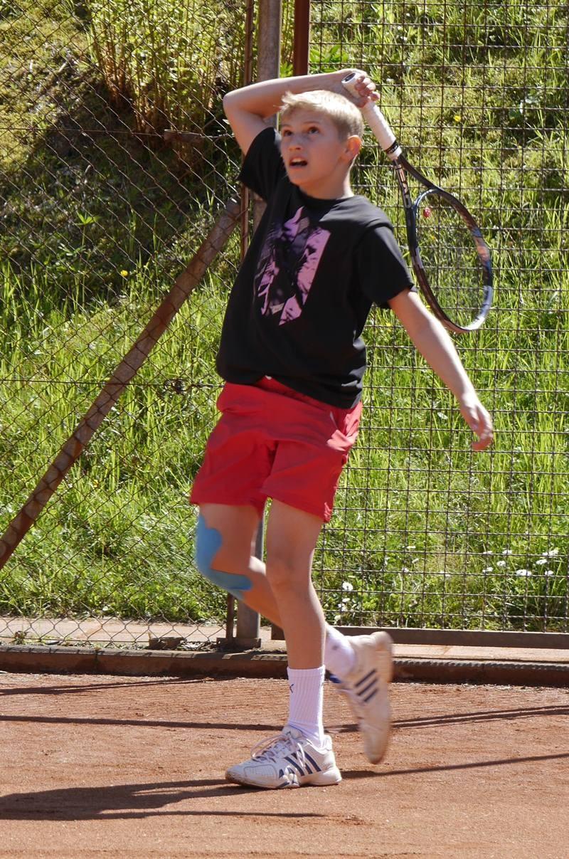 Nils-Lasse Hüttemann: mal sehen, wie hoch ich den Ball schlagen kann