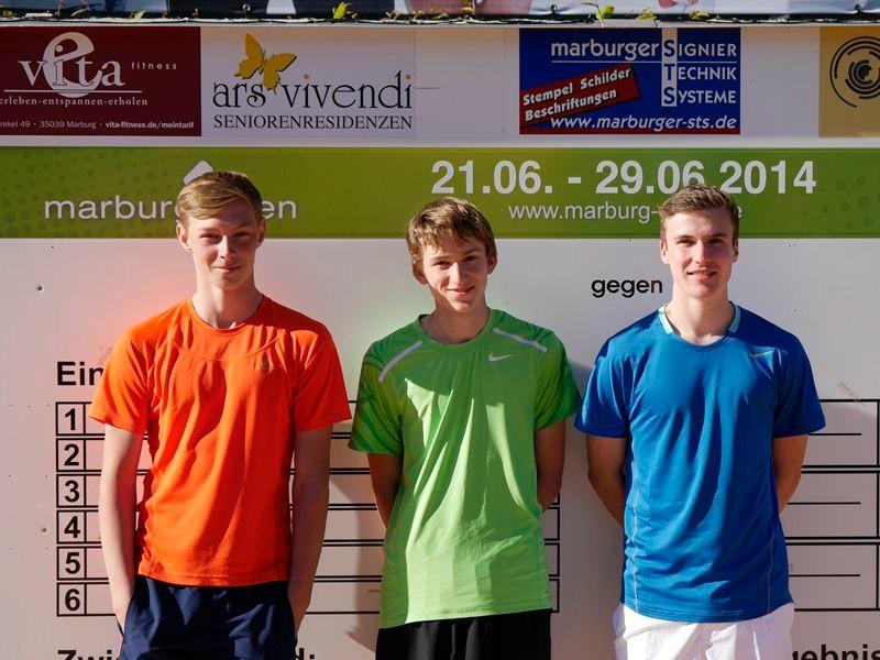 Bjarne Andersen, Fabian Zelder, und Johannes Kelz. Ein kleines aber feines U18 Feld.