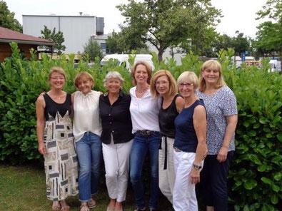 Damen 50: Gudrun Schmitt, Ingrid Bien, Marita Paul, Gila Kageler, Regina Linda, Gudrun Orthwein und Anette Ruppersberg