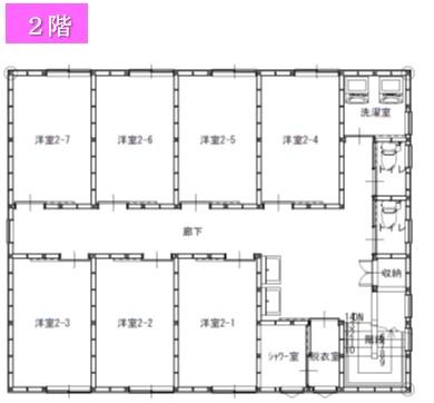 さくらトパーズ2階間取り図