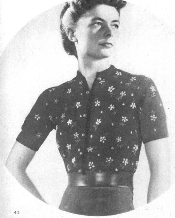 Le gilet à fleur Marie Clair