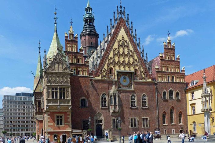 Breslau Altes Rathaus in Polen