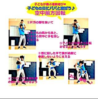 浜松 キッズ ダンス スクール Triple Star がおススメする、パパと遊べる「肩車バランス」のお子様をおろすときの楽で安全なおろし方