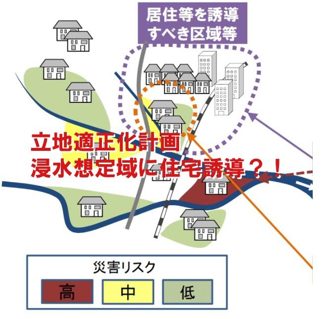 立地適正化計画 浸水想定域に住宅誘導