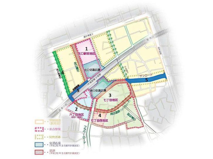 小岩駅周辺地区マップ