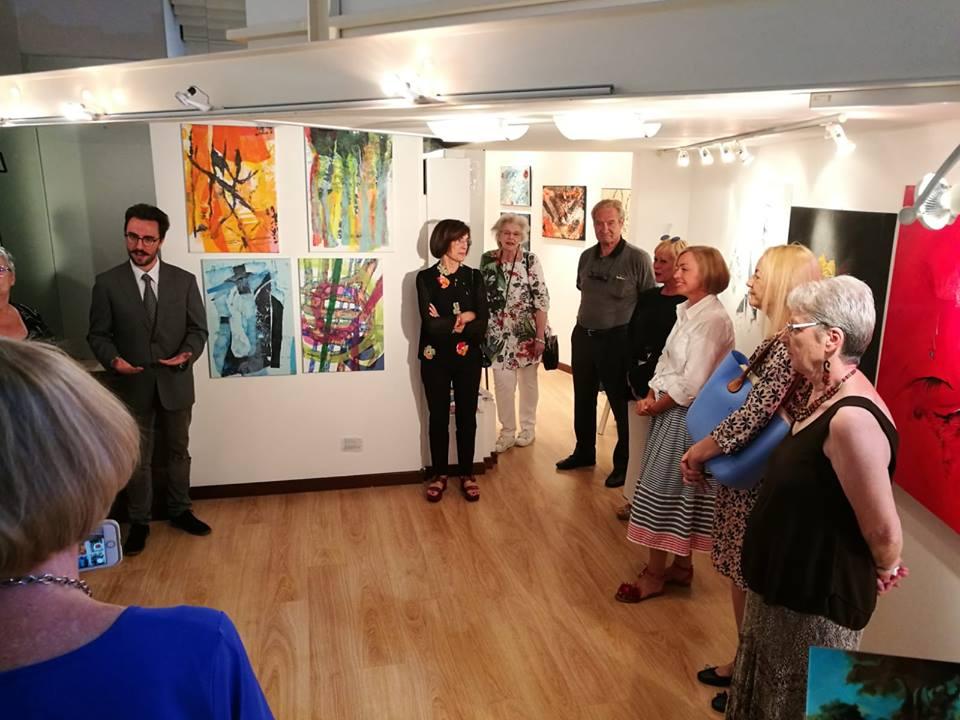"""Vernissage """"Emozioni astratte"""", Galerie ARTtime Udine, Italien am 23.06.2018 - das Bild ist mit dem Presselink verbunden."""