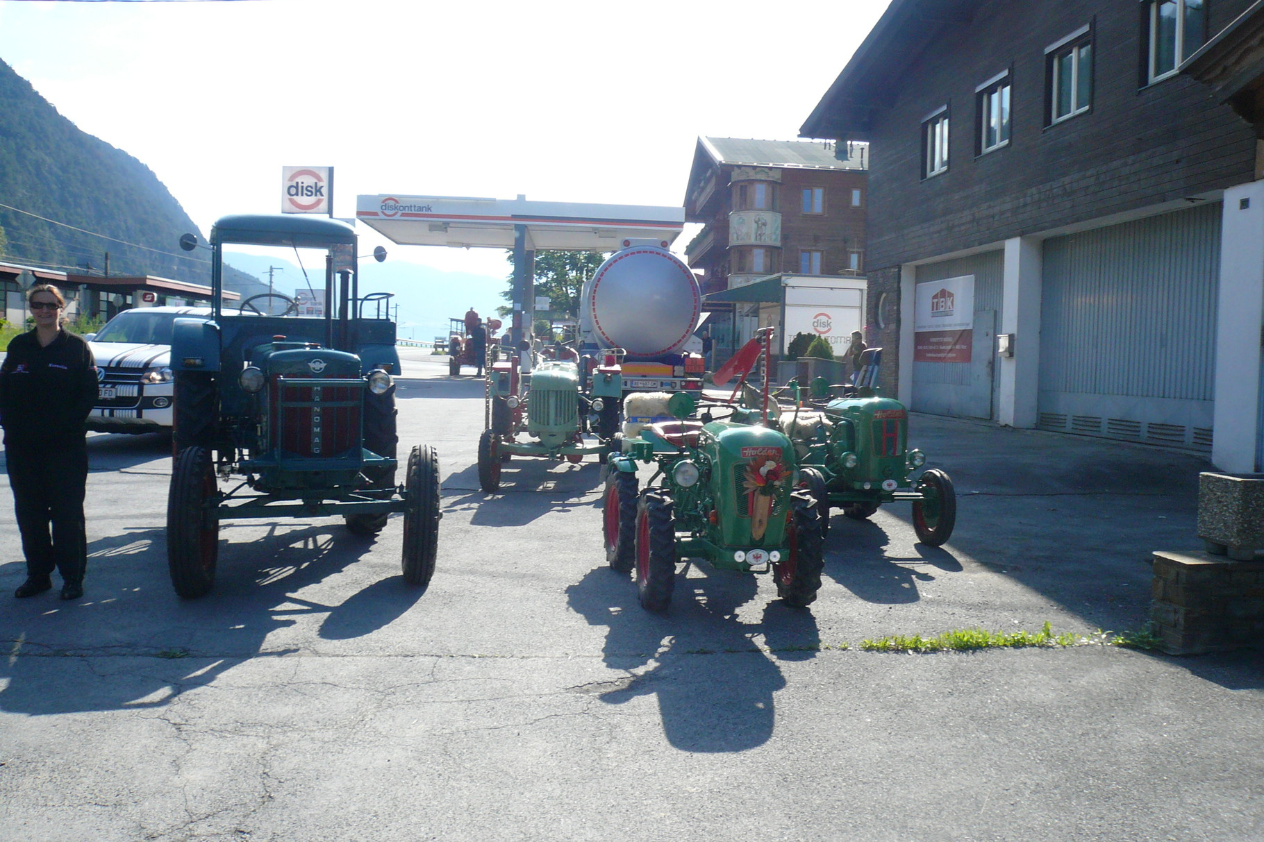 Treffpunkt der Traktorfahrer
