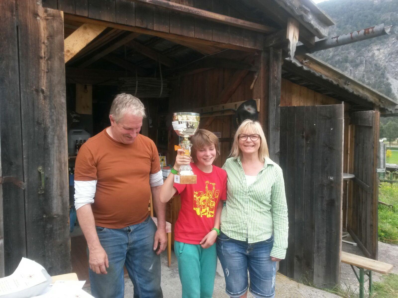 Wanderpokal Gewinner Team  Laura