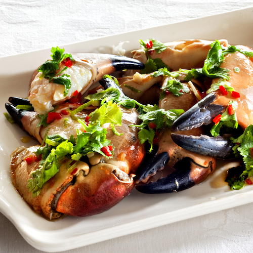 oppskrift krabbeklør ingefær koriander
