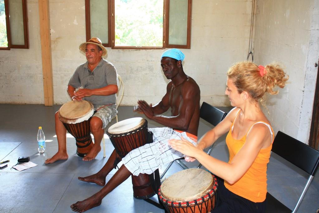 Avec Vieux Toumani Diawara