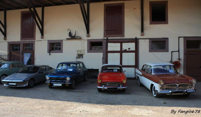 Les Simca(s) du club à Handschuheim