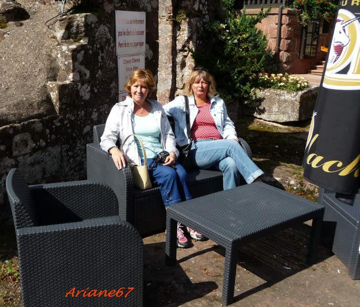 Francoise et Corinne en térasse