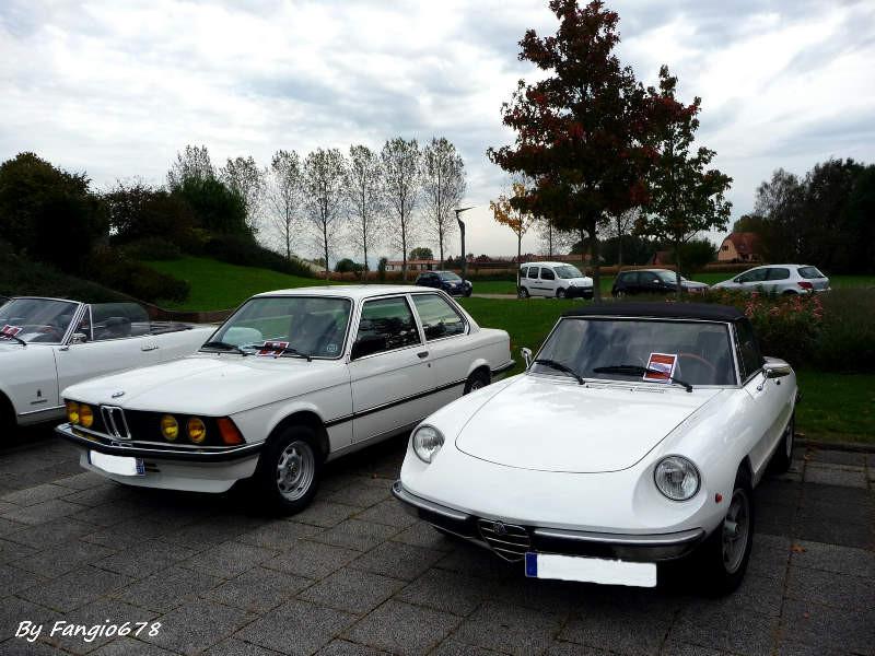 Le blanc leur va bien, BMW de Guy et l'Alfa de Pierre