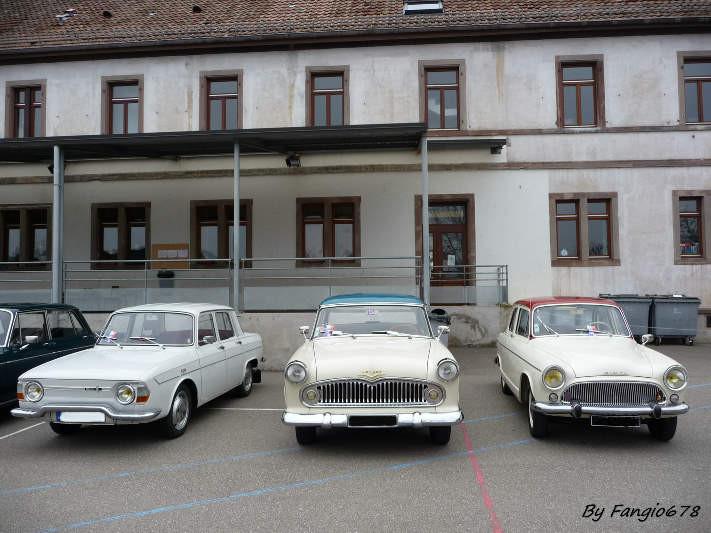 Les voitures du club....