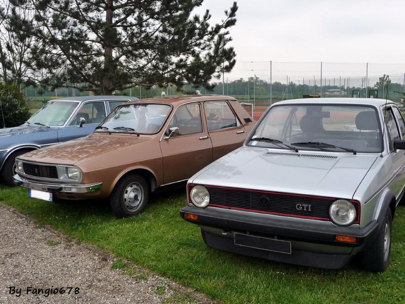 Renault 12 et Golf GTI