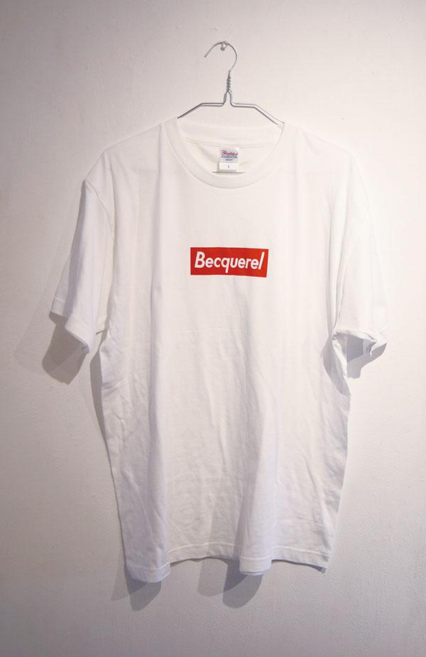 流行りのTシャツ Becquerel    2018 Tシャツにシルクスクリーンプリント※福島在住時に制作