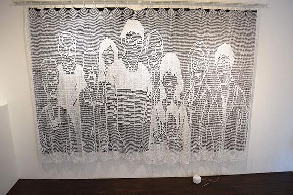 人間模様 human pattern  180cm×250cm 2018 レース糸(自ら手編み)、かぎ針