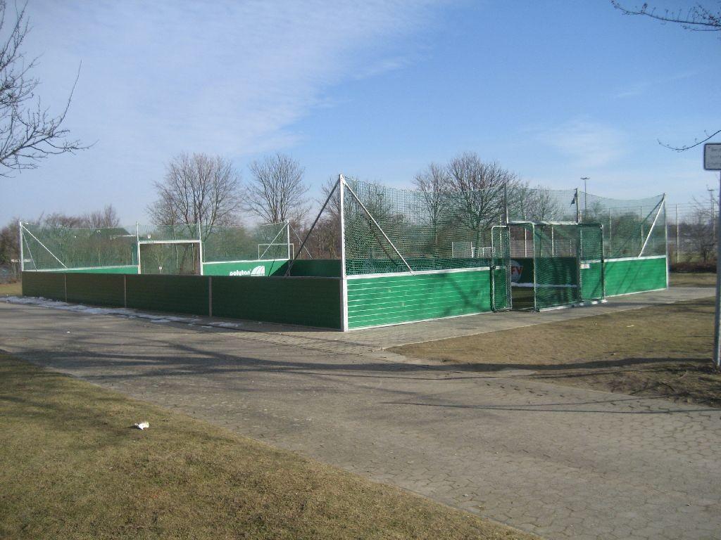 Die Kleinfeldanlage im Fußball der Regenbogen-Grundschule