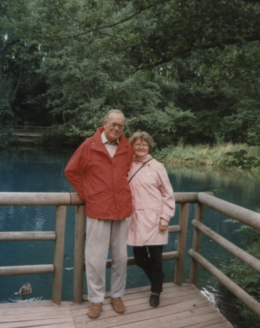 Mit seiner Frau Felicitas