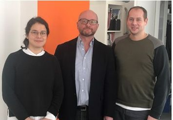 Tania Salas (von links), Marco Mehlin und Daniel Schertel